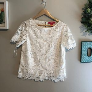 White Lace Top by Catherine Malandrino